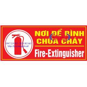 bảng chỉ dẫn nơi để bình chữa cháy