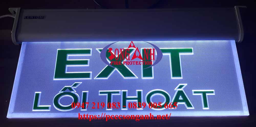 đèn exit trong suốt Kentom KT650